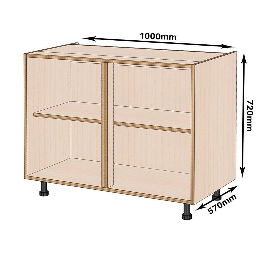 1000mm Birch Kitchen Base Unit - Kitchen Cabinets by Birch